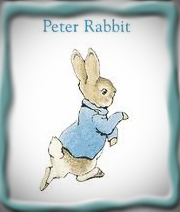 Peter Rabbit, Attribution: https://www.google.com/search?rlz=1C1CHFX_enUS375US375&sourceid=chrome&ie=UTF-8&q=images+of+peter+rabbit