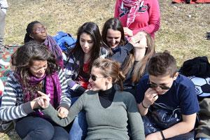 Teenage gathering, Attribution: http://www.flickr.com/photos/chiesadibeinasco/7361636130/sizes/z/in/photostream/