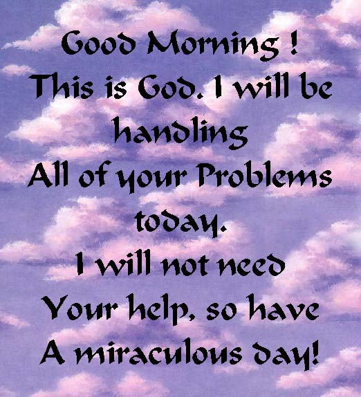 Good Morning God