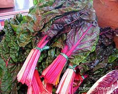 Rainbow Chard, Attribution: http://www.flickr.com/photos/summertomato/4836952356/